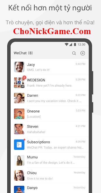 Chia sẻ tài khoản Wechat