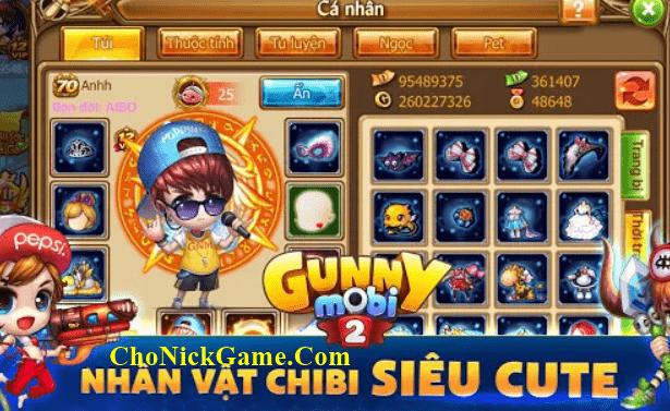 Cho nick gunny mobi