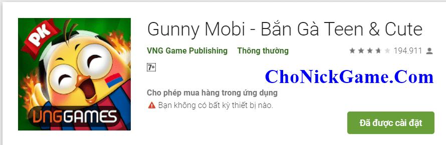 Cho acc gunny mobi 2020