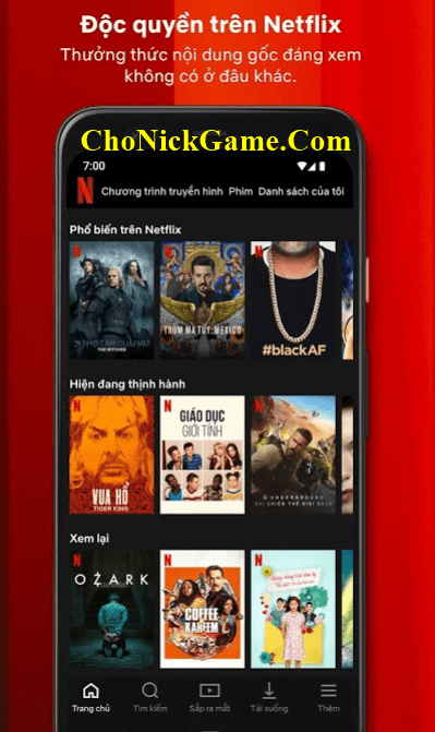Chia sẻ tài khoản Netflix