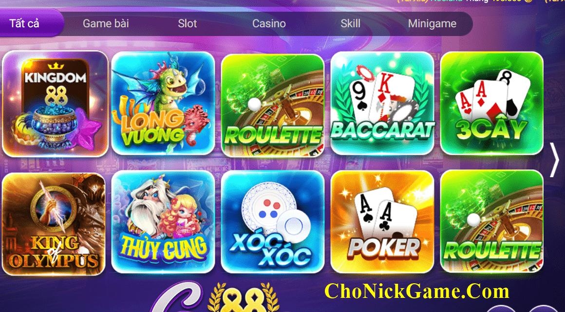 Cho nick GamVip