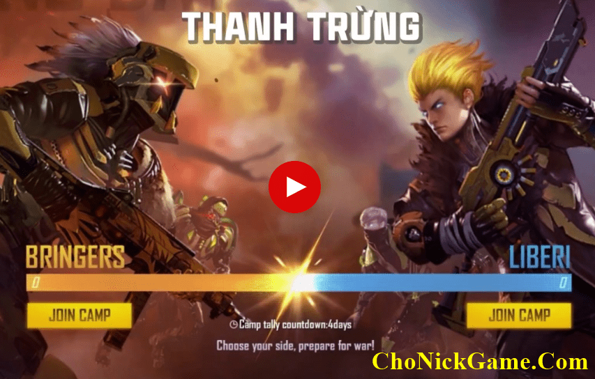 Tặng nick Free Fire vip facebook