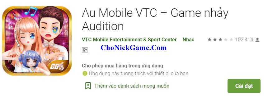 Cho acc Au Mobile 2020