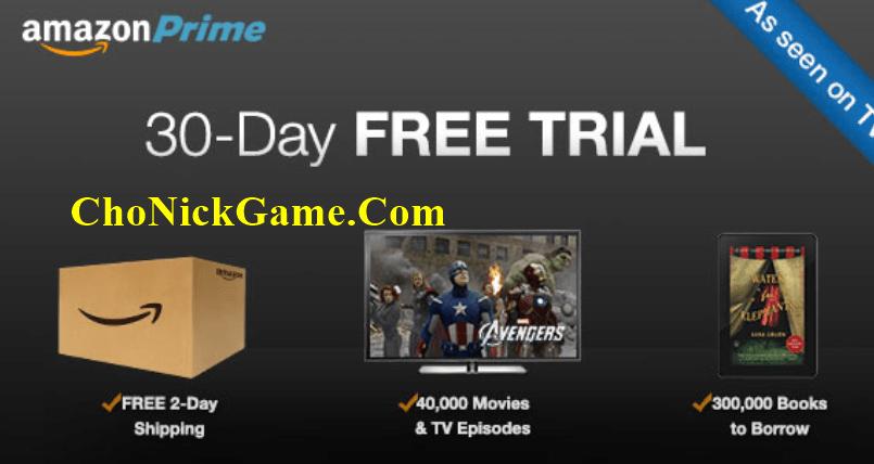 tài khoản amazon prime free