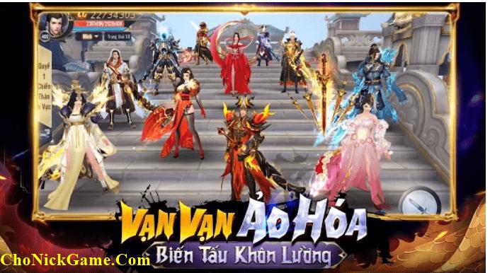 Cho nick Trảm Thiên Quyết
