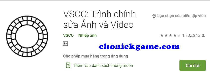 tài khoản VSCO Full free 2020