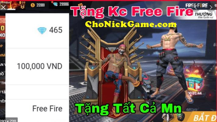 Phát kim cương free fire miễn phí