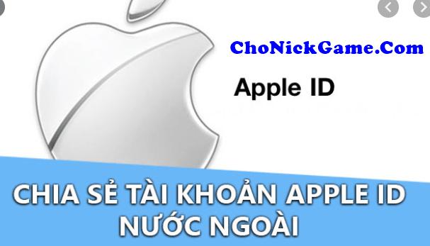 mượn ID Apple Nhật Bản free