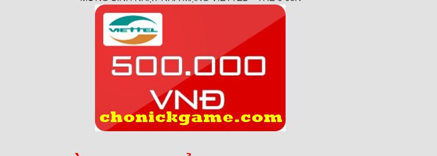 The viettel 500k miễn phí