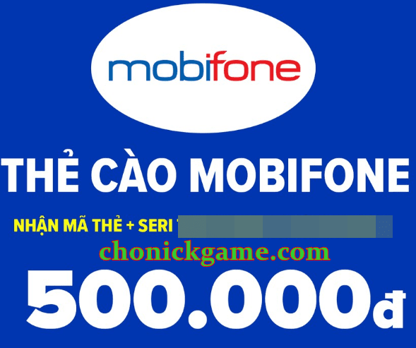 Thẻ mobifone 500k đã cào