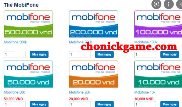 Cách nhận thẻ cào Mobifone miễn phí